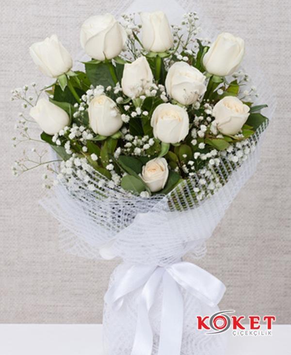 11 Beyaz Gül